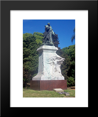 Domingo Sarmiento:  Modern Black Framed Art Print by Auguste Rodin