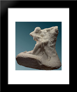 Eternal Spring:  Modern Black Framed Art Print by Auguste Rodin