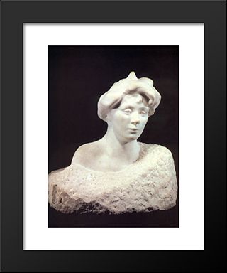 Eve Fairfax:  Modern Black Framed Art Print by Auguste Rodin