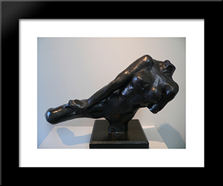 Flying Figure:  Modern Black Framed Art Print by Auguste Rodin