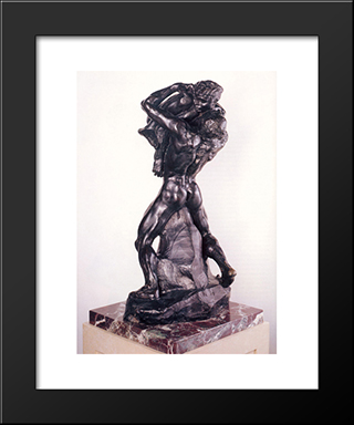 I Am Beautiful:  Modern Black Framed Art Print by Auguste Rodin