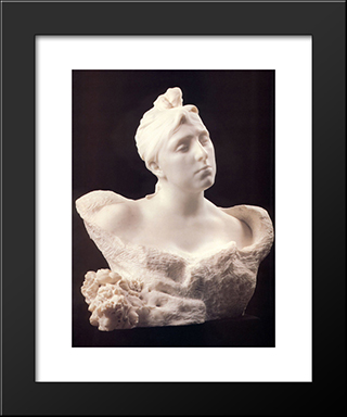 Mme Vicuna:  Modern Black Framed Art Print by Auguste Rodin