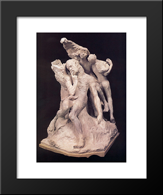 Monument To Victor Hugo (First Project):  Modern Black Framed Art Print by Auguste Rodin