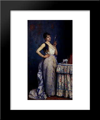 Preparing For The Ball:  Modern Black Framed Art Print by Auguste Toulmouche