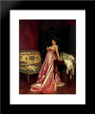 The Admiring Glance:  Modern Black Framed Art Print by Auguste Toulmouche