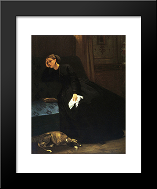 The Lost Love:  Modern Black Framed Art Print by Auguste Toulmouche