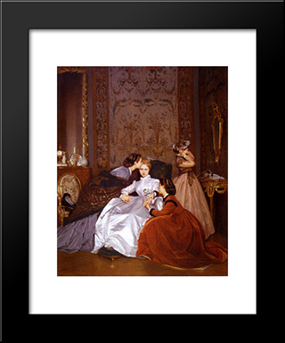 The Reluctant Bride:  Modern Black Framed Art Print by Auguste Toulmouche
