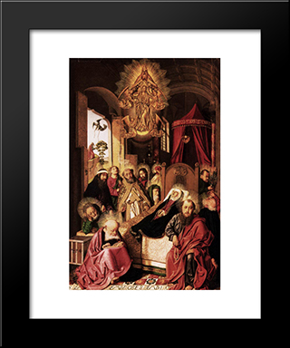 Death Of The Virgin:  Modern Black Framed Art Print by Bartolome Bermejo