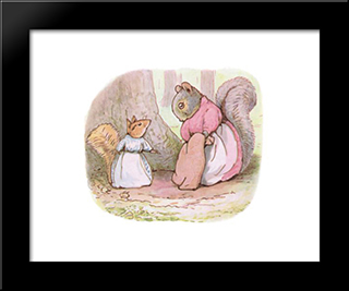 Goody And Mrs. Hackee:  Modern Black Framed Art Print by Beatrix Potter