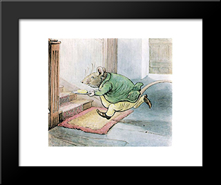 Mrrat-Butter:  Modern Black Framed Art Print by Beatrix Potter