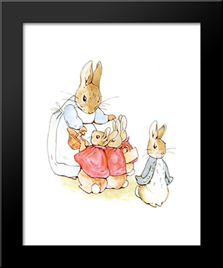 Peter-Rabbit:  Modern Black Framed Art Print by Beatrix Potter
