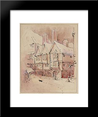 Simpkin Hears The Mice:  Modern Black Framed Art Print by Beatrix Potter