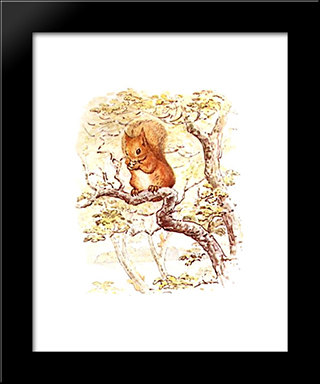 Squirrel Nutkin:  Modern Black Framed Art Print by Beatrix Potter