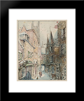 The Tailor And Simpkin Set Out For The Shop:  Modern Black Framed Art Print by Beatrix Potter