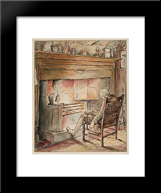 The Tailor By The Heat:  Modern Black Framed Art Print by Beatrix Potter