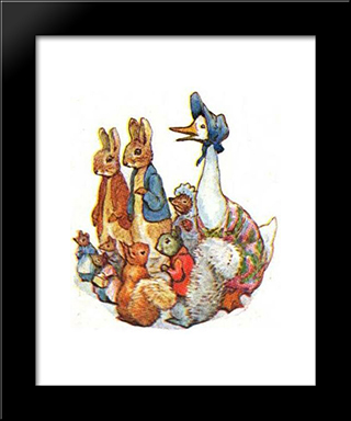 The Tale Of Pigling Bland:  Modern Black Framed Art Print by Beatrix Potter