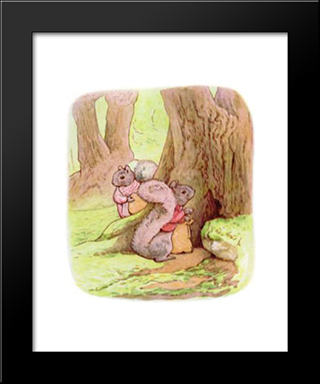 Timmy Tiptoes:  Modern Black Framed Art Print by Beatrix Potter