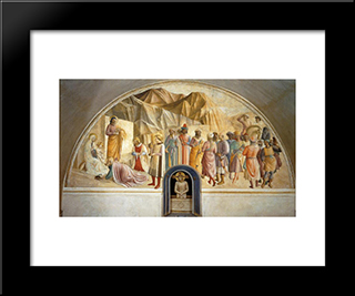 Adoration Of The Magi:  Modern Black Framed Art Print by Benozzo Gozzoli
