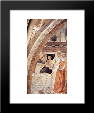 Conversion Of The Heretic:  Modern Black Framed Art Print by Benozzo Gozzoli