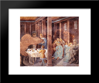 Death Of The Knight Of Celano:  Modern Black Framed Art Print by Benozzo Gozzoli