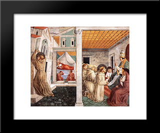 Dream Of Innocent Iii And The Confirmation Of The Rule:  Modern Black Framed Art Print by Benozzo Gozzoli