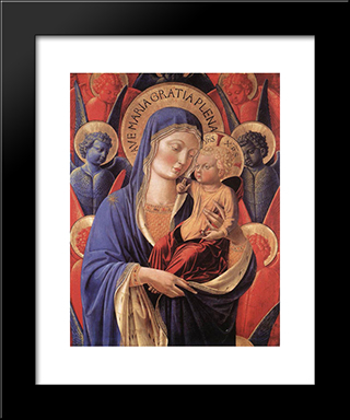 Madonna And Child:  Modern Black Framed Art Print by Benozzo Gozzoli