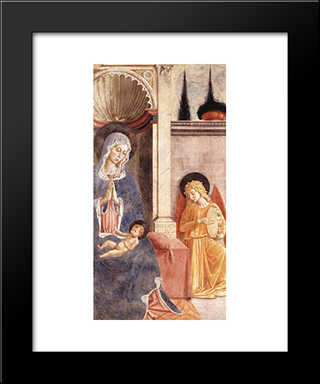 Madonna And Child (Detail):  Modern Black Framed Art Print by Benozzo Gozzoli