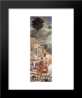 Procession Of The Magi (Detail):  Modern Black Framed Art Print by Benozzo Gozzoli
