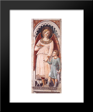 Raphael And Tobias:  Modern Black Framed Art Print by Benozzo Gozzoli