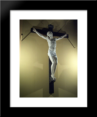 Crucifix:  Modern Black Framed Art Print by Benvenuto Cellini