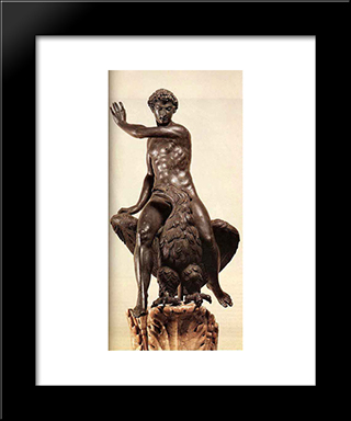 Ganymede:  Modern Black Framed Art Print by Benvenuto Cellini