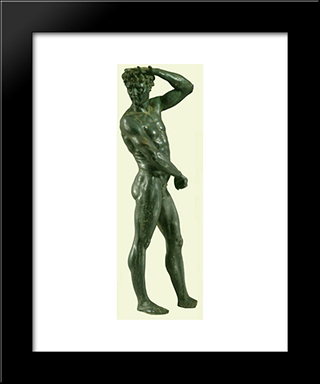 Satyr:  Modern Black Framed Art Print by Benvenuto Cellini