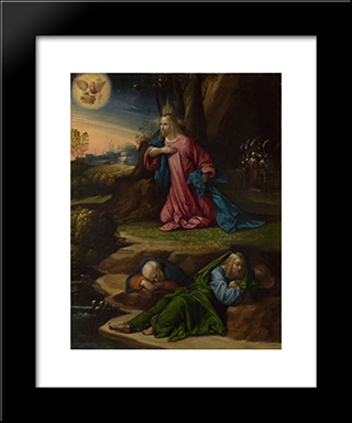 The Agony In The Garden:  Modern Black Framed Art Print by Benvenuto Tisi
