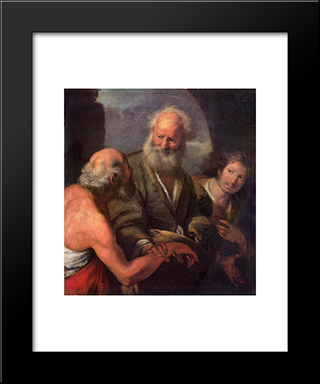 St. Peter Cures The Lame Beggar:  Modern Black Framed Art Print by Bernardo Strozzi