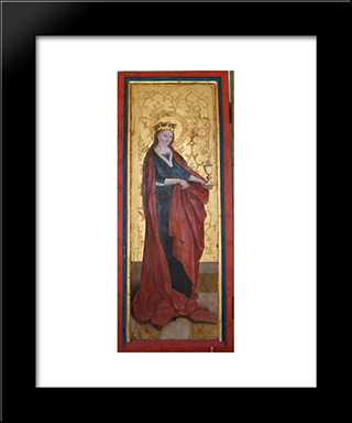 Barbara Of Nicomedia:  Modern Black Framed Art Print by Bernhard Strigel