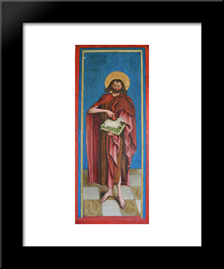 John The Baptist:  Modern Black Framed Art Print by Bernhard Strigel