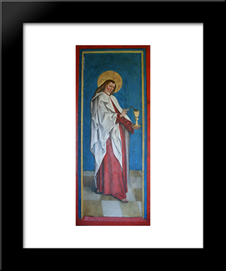 John The Evangelist:  Modern Black Framed Art Print by Bernhard Strigel
