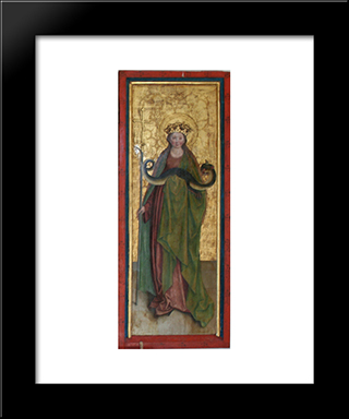 Margaret Of Antioch:  Modern Black Framed Art Print by Bernhard Strigel