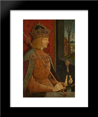 Maximilian I (1459-1519):  Modern Black Framed Art Print by Bernhard Strigel