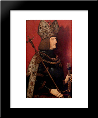 Portrait Of Maximilian I (1459-1519):  Modern Black Framed Art Print by Bernhard Strigel