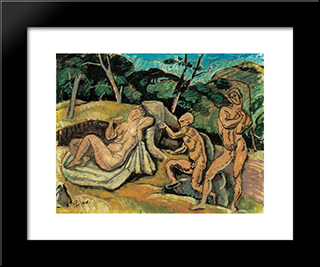 Longing For Pure Love:  Modern Black Framed Art Print by Bertalan Por