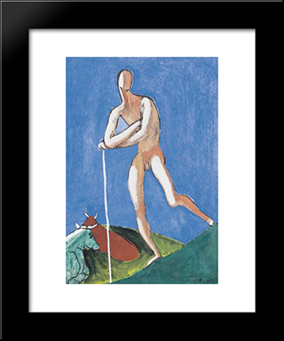 Shepherd:  Modern Black Framed Art Print by Bertalan Por