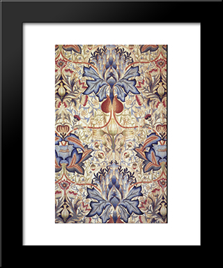 Acanthus Embroidered Panel:  Modern Black Framed Art Print by William Morris