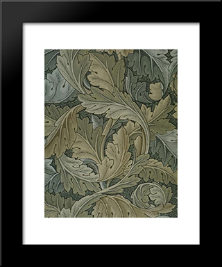Acanthus Wallpaper:  Modern Black Framed Art Print by William Morris