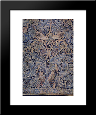 Cabbage And Vine Tapestry:  Modern Black Framed Art Print by William Morris