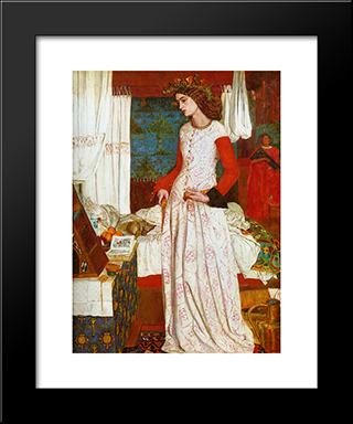 La Belle Iseult:  Modern Black Framed Art Print by William Morris