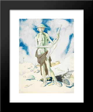 Blown Up 1917:  Modern Black Framed Art Print by William Orpen