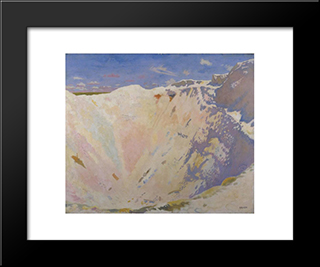 Inside A Small Mine Crater, La Boisselle 1917:  Modern Black Framed Art Print by William Orpen