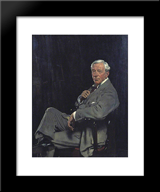 Sir William Mccormick 1920:  Modern Black Framed Art Print by William Orpen