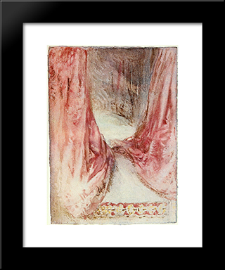 A Bed, Drapery Study:  Modern Black Framed Art Print by William Turner